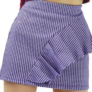 Topshop Gingham Mini Skirt